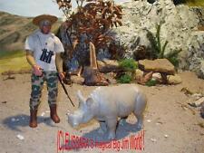 Big Jim - Jeff as animal catcher / Tierfänger + Rhino ! Safari  Mattel