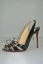 Christian Louboutin Corsetica Patent Leather/PVC Slingback  Sandal Sz:39 NEW