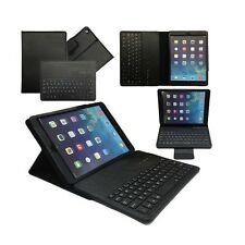 Negro Teclado Bluetooth Cuero funda para iPad Air de Apple 5ª Gen De Tablet