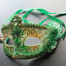 Green Floral Venetian Masquerade Mask Party Prom Wedding Halloween Costume