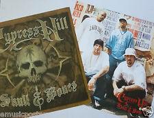 "CYPRESS HILL ""SKULL & BONES"" 2-SIDED U.S. PROMO POSTER -West Coast Hip Hop Music"