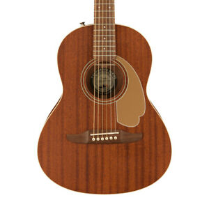 Fender Sonoran Mini All Mahogany Acoustic Guitar W/Bag (NEW)