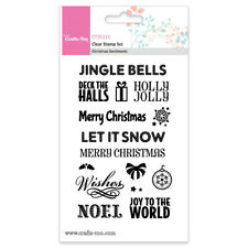 CRAFTS TOO Clear Stamp Set CHRISTMAS SENTIMENTS CT25111 Joy Jingle Merry Snow