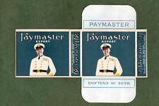 Old EMPTY cigarette packet PAYMASTER EXPORT 20 +sl VERY RARE very pretty variety
