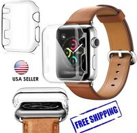 Apple Watch Series 3 Transparent Ultra Thin Hard Protective Case Cover 38mm 42mm