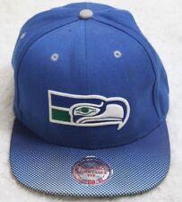 Seattle Seahawks Blue White Mitchell & Ness Baseball Hat One Size Adult Football