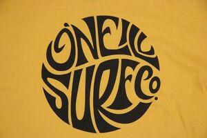 O'neill T Shirt The Original American Surf Co 100% Cotton Yellow Oneill Surf Boy