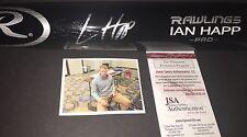 Ian Happ Chicago Cubs Autographed Signed Engraved Bat JSA WITNESS COA Black