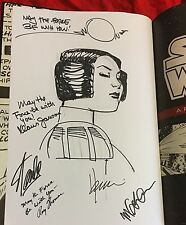 STAR WARS ARTIST EDITION+SIGNED+ORIGINAL LEIA CARRIE FISHER ART~CHAYKIN+STAN LEE