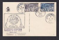 MiNr. 10 und 12   .. Franz. Geb. i. d. Antarktis .... Auf Kartenbeleg