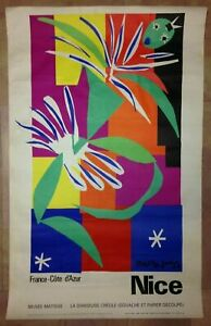 NICE FRANCE by HENRI MATISSE 1965 LARGE LITHOGRAPHIC POSTER MOURLOT