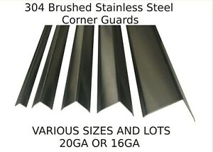 Stainless Steel Corner Guards, Sheet Metal Wall Angle (Various Sizes and Lots)