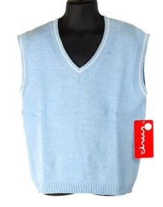 IMP Originals Boys Sweater Vest Blue 7 (L) V-Neck Easter Holiday Occasion Spring