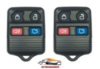 PAIR FORD 4 BUTTON KEYLESS ENTRY KEY REMOTE FOB CLICKER BEEPER ALARM