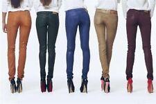 Denny Rose Art.5335 Pantalone 5 tasche effetto pelle