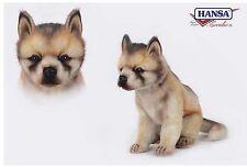 Wolf Baby sitzend 25 cm Kuscheltier Stofftier Plüschtier Hansa Toy 6740