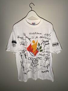 Vintage 1996 atlanta olympics olympic aid all over print t shirt size mens XL