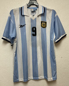 VtgArgentina home soccer jersey 1999-2000 Batistuta #9 Sz L Read Description