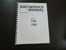 Original Service Manual Schaltplan NAD 7120 7125