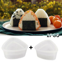 2Pcs Triangle Form Onigiri Sushi Rice Ball Bento Press DIY Maker Mold Mould
