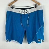 Quiksilver Mens Board Shorts 36 Blue Drawstring
