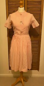 Vintage 1950s Pink Gingham Dress UK8