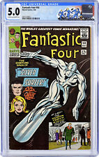 Fantastic Four #50 CGC 5.0 Silver Surfer battles Galactus! Jack Kirby Stan Lee