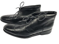 Cole Haan men's Boots Black Leather Size 9 .5 M  EUC