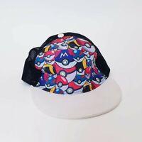 Pokemon Pokeball Baseball Truckers Cap - Kids Flat Brim Cap Hat Adjustable