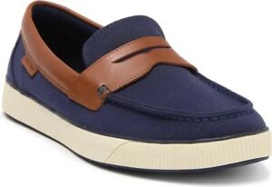 Cole Haan-Nantucket 2.0 Penny Loafer-Color: Navy Textile/Tan- Men's Size 11- New