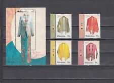 a96 - MALAYSIA - SG1100-MS1104 MNH 2002 TRADITIONAL WOMENS BLOUSE