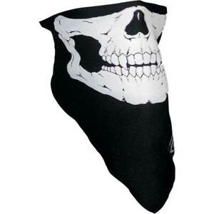 Schampa Skull Stretch Half-Face Mask One Size Motorcycle Riding Coverage
