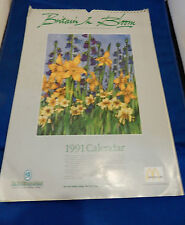 McDonalds 1991 Britain in Bloom Calendar for Tidy Britain Group - Vintage RARE
