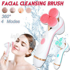3 Head 360° Electronic Facial Cleansing Face Massage Brush Skin Care Spa Set