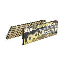 DID STD Series Chain 420D Gold & Black [with Clip (RJ) Joint] HONDA TLM50