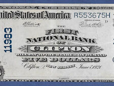 NJ  1902  $5 ♚♚CLIFTON,NEW JERSEY♚♚ EF++/AU  SUPER BRIGHT&CRISP   BEST KNOWN!!!