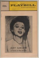 "Judy Garland  ""At Home At The Palace""  1967   Playbill   Two Ticket Stubs"