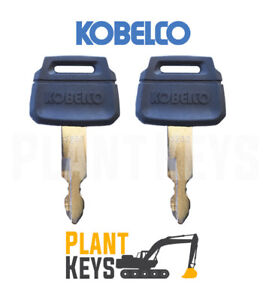Kobelco K250 (Set of 2) Excavator Keys New Holland Kawasaki Wheel Loader Case