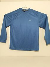Nike Polyester Long Sleeve Shirt Blue Mens Large Clean No stains, rips, or tears