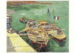 Postkarte: Vincent van Gogh - Rhonebarken / Boote / 1888