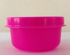 Tupperware Smidget Container Mayo, Salad Dressing, Beads Neon Pink New
