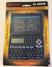 Sharp Electronic Organizer Memo Master El-6800B Phone Book Pda H