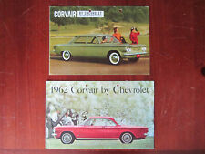 Chevrolet Corvair 1960 & 1962 Konvolut 2 Prospekte Brochure
