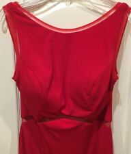 JVN By Jovani Women's Red Sleeveless Padded Formal Gown Size 8 NWT