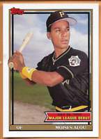 1990 Topps Baseball Rookie Moises Alou RC #5 Debut 7/26/90 Pittsburgh Pirates