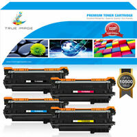 4 Pack Toner Compatilbe for HP 504X CE250X Color Laserjet CM3530 CP3525 CP3530