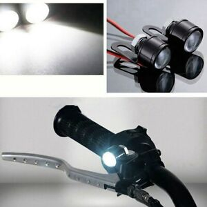 2X LED Car Motor Bike Handlebar Spotlight Headlight Driving Light Fog Lamp White