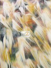 FAUX FAKE FUR ANIMAL SHORT PILE COAT COSTUME FABRIC - Peafowl - BY YARD CLOTHING
