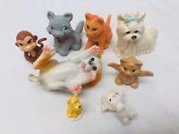 Toy Animal Figures Set Cats Dogs Lamb Monkey PVC Figures Pretend Play Toys
