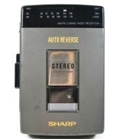 Working SHARP JC-510(GY) Portable Cassette Player Recorder AM/FM Stereo Radio